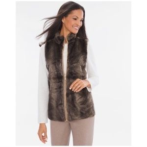 Chico's Zenergy faux fur vest jacket